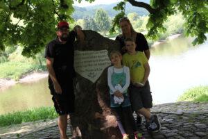 Startpunkt der Tour: Der Weserstein in Hann.-Münden
